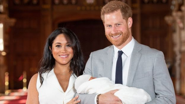 Duke and Duchess of Sussex and their son