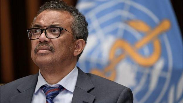 Retrato de Tedros Adhanom Ghebreyesus, diretor-geral da OMS