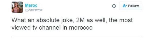 La usuaria de Twitter Maroc escribió: