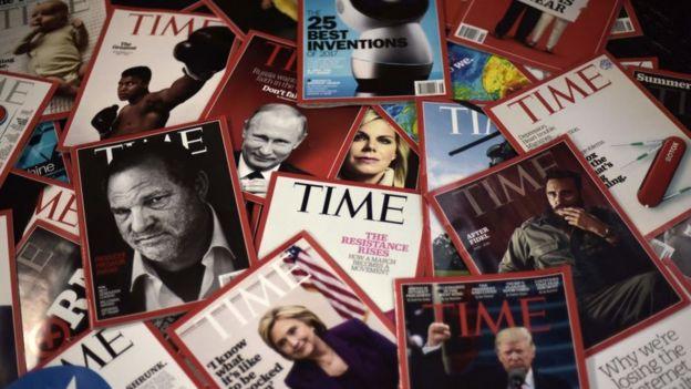 Varias ediciones de la revista Time