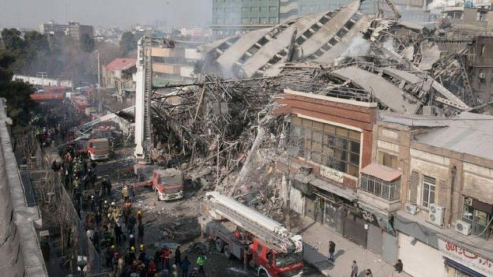 Collapsed Plasco building in Tehran, Iran (19 January 2017)