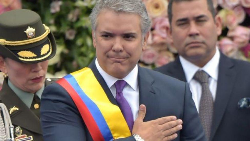 """Iván Duque sostuvo que gobierno de Venezuela """"es una amenaza constante para la democracia en la región""""."""