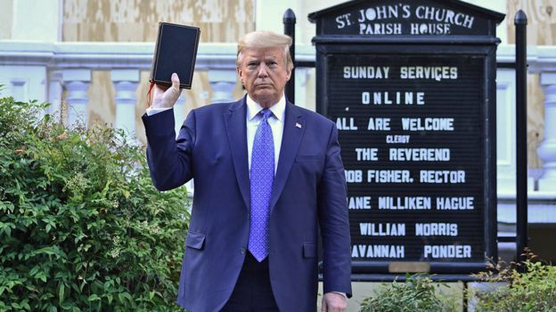 President Trump held up a Bible outside the boarded up St John's Church