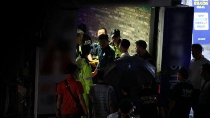 Rescue team at Coyote Ugly nightclub, Gwangju, South Korea 27 July 2019