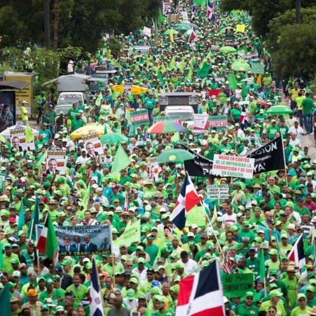 Protesta en Santo Domingo