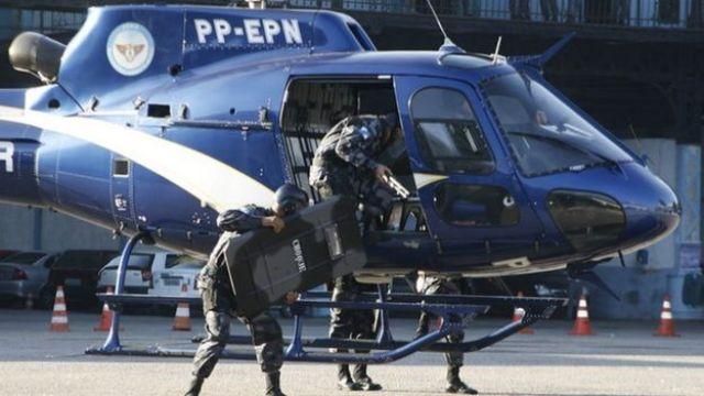 helicóptero da PM