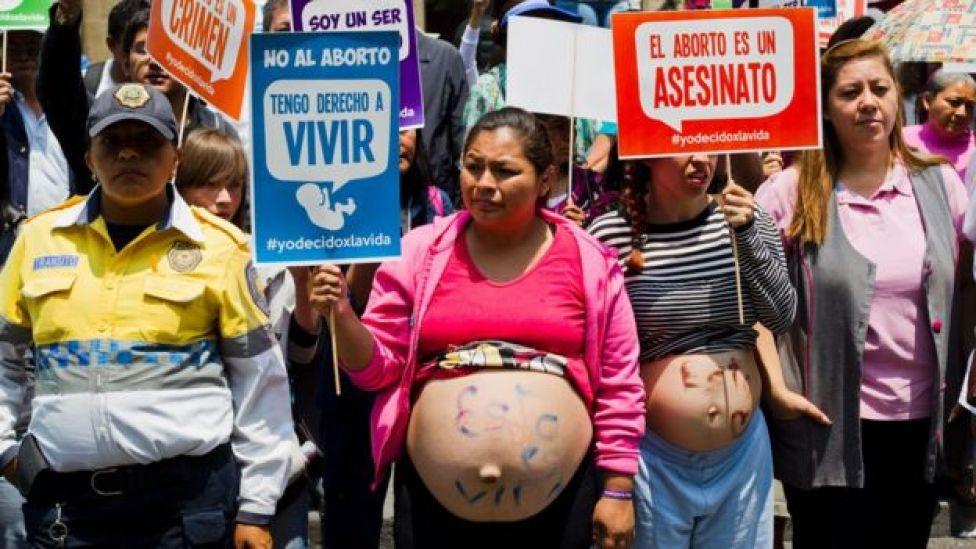 Protesto contra o aborto no México
