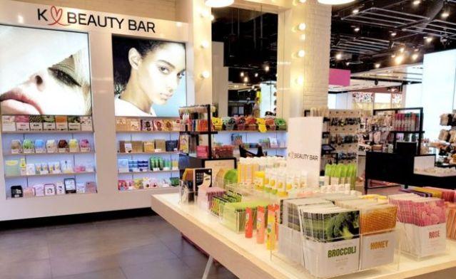 Quiosque da K-Beauty em loja da Topshop em Londres