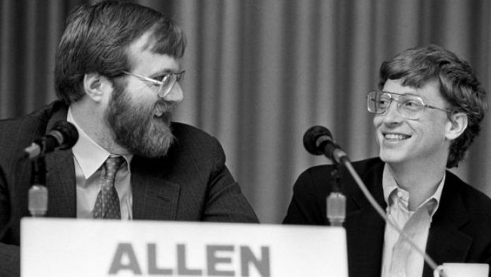 Paul Allen and Bill Gates at an 1987 event