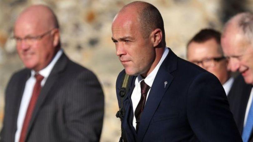 Emile Cilliers no dia do julgamento que o condenou à prisão perpétua