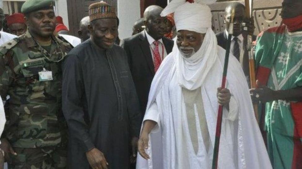 Sarki Ado Bayero da Goodluck Jonathan