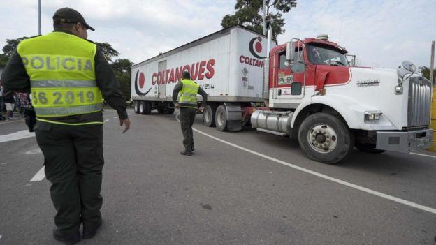 Ya empezó a llegar a Cúcuta el primer cargamento de ayuda humanitaria para Venezuela solicitado por Guaidó.