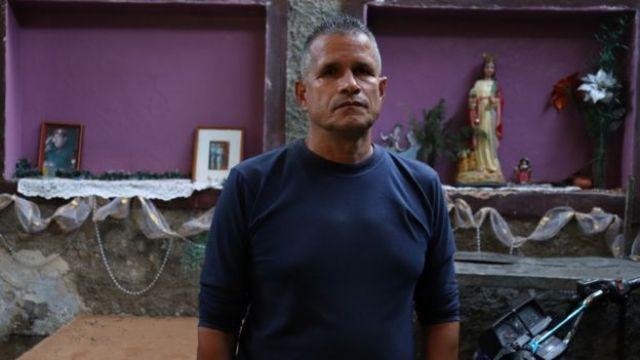Jorge Navas, homem que está à frente de um dos coletivos que atuam em defesa do mandato de Nicolás Maduro, na Venezuela