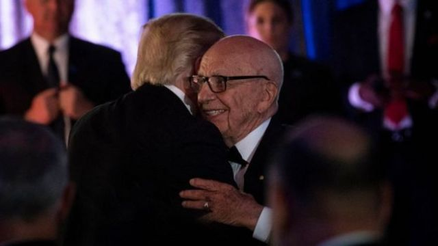 Trump saluda a Murdoch