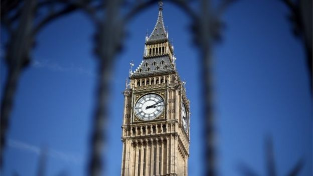 Elizabeth Tower, commonly called Big Ben, is pictured on April 1, 2015 in London, United Kingdom.