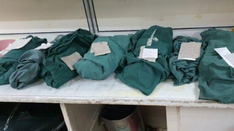 Les corps des bébés mort-nés à l'hôpital de Harare le lundi 27 juillet ont été enveloppés dans un tissu vert