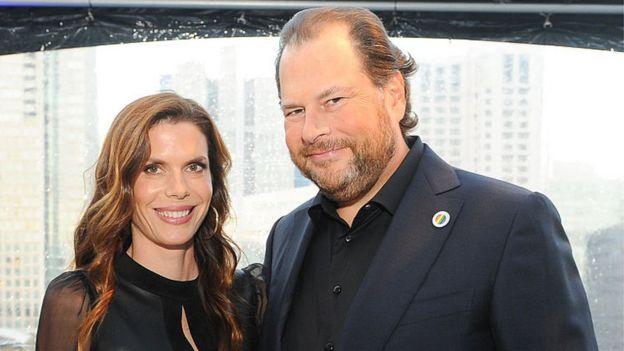 Marc y Lynne Benioff