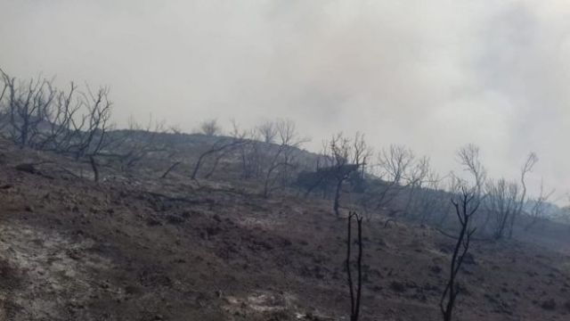 paisagem depois da erupção