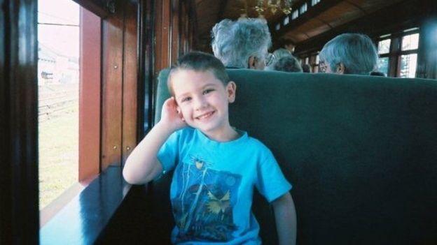 Gwen cuando era niño