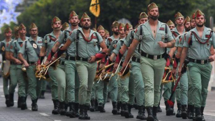 Un défilé de la Legion espagnole