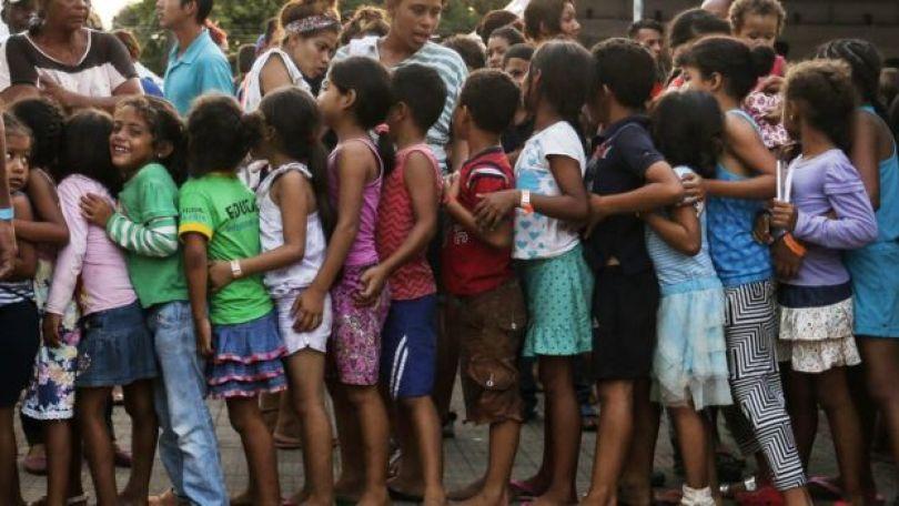 Crianças venezuelanas em Manaus