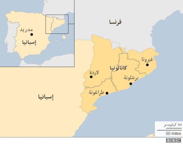 خريطة لكتالونيا