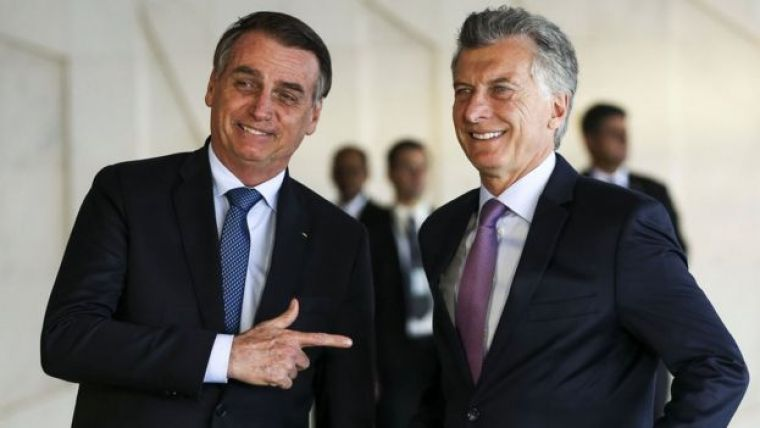 Bolsonaro e Mauricio Macri