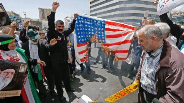 Protestas en Irán en mayo de 2019.