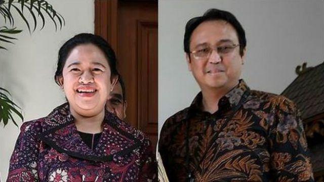 Puan Maharani (kiri) dan Prananda Prabowo (kanan)