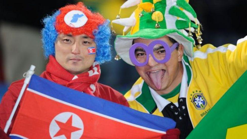 Corea del Norte y Brasil en el Mundial de 2010.