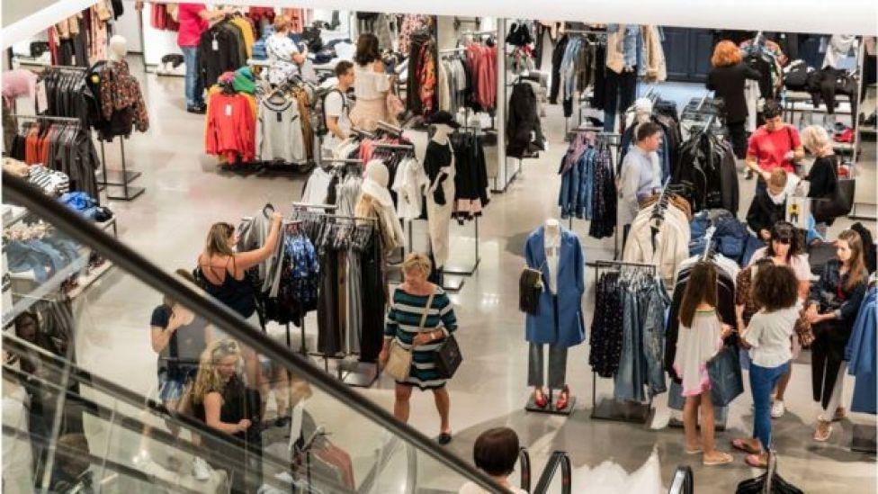 Women shopping at Zara