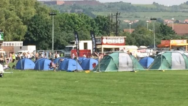 Tents at Mutiny Festival, Portsmouth
