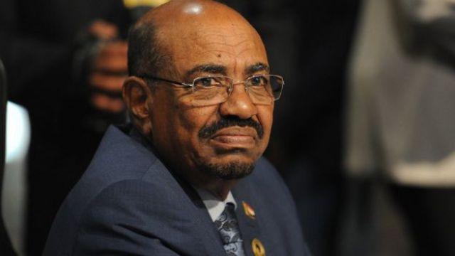 Portrait of Sudanese president Omar al Bashir.
