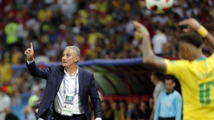 Tite em jogo do Brasil contra Bélgica