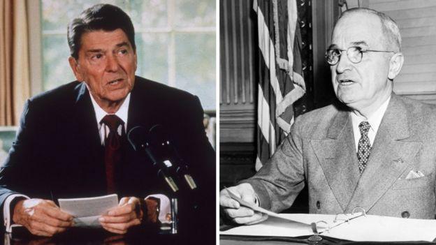 Ronald Reagan and Harry Truman