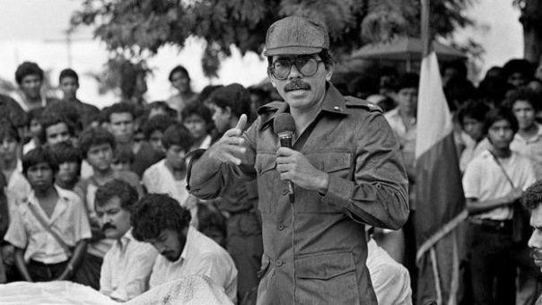 Daniel Ortega en 1985