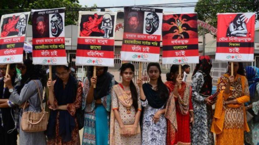 Des manifestations ont eu lieu à Dhaka et à Feni, la ville natale de Nusrat Jahan Rafi.