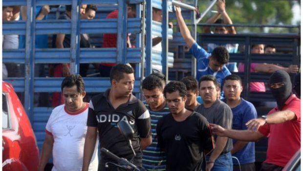 Miembros de la MS 13 detenidos.