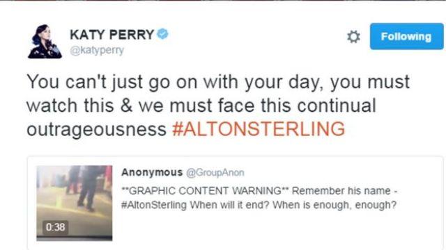 Katy Perry tweeted: