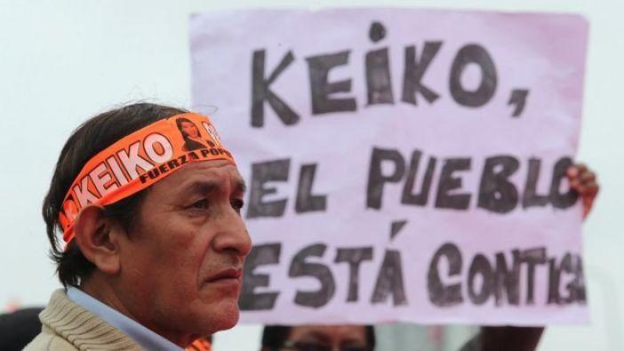 Simpatizantes de Keiko Fujimori
