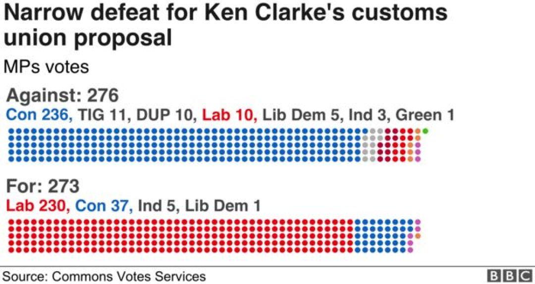 Graphic of customs union vote