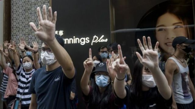HK protesters 27 May