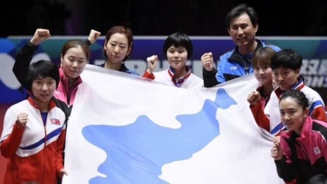Koreans played under a unified flag at the Winter Olympics