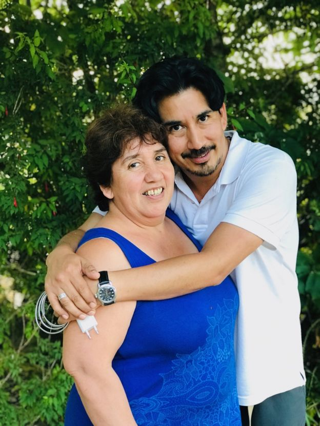 A photo of Alejandro Quezada and his birth mother