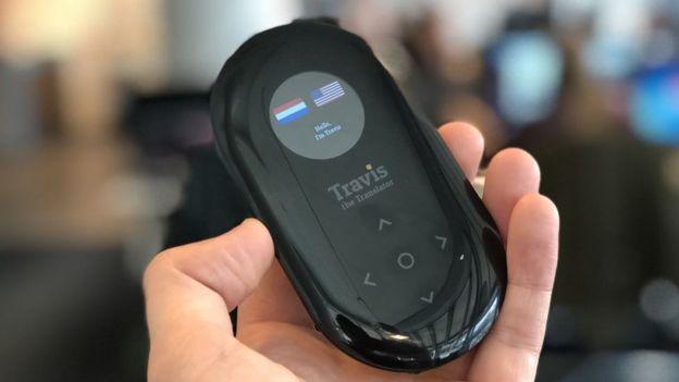 El traductor personal de Travis está pensado para comunicaciones cara a cara, dice el director de la compañía. (Foto: Travis).