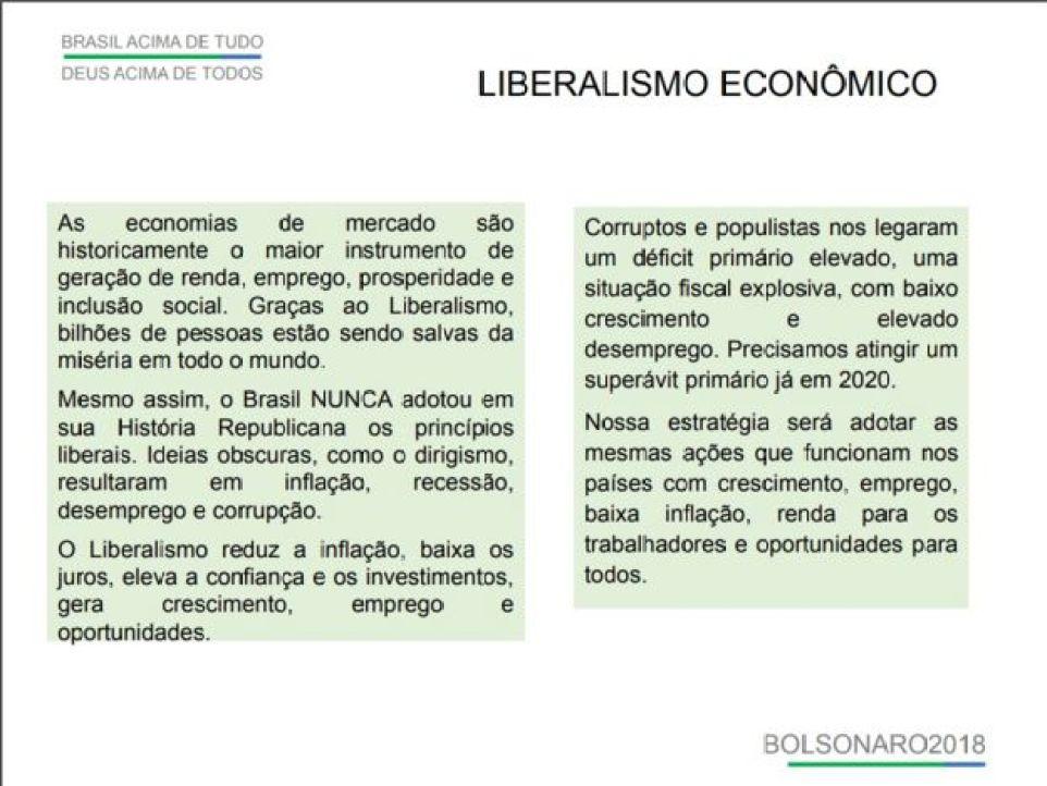 Plano de governo de Jair Bolsonaro