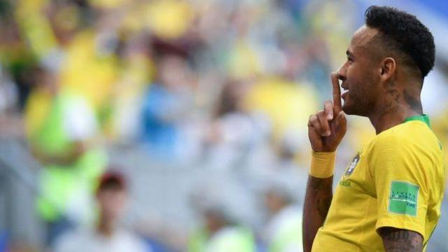 Neymar em jogo da Copa da Rússia, em 2018
