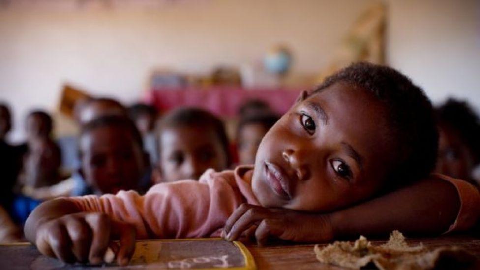Niño en Madagascar