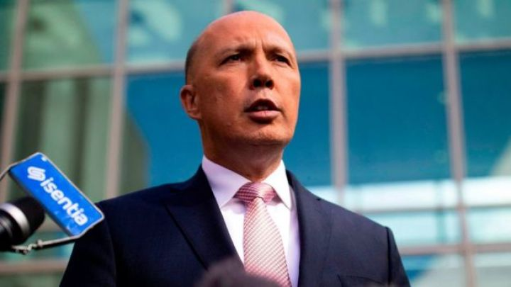 Peter Dutton speaks to reporters in Canberra following his leadership tilt