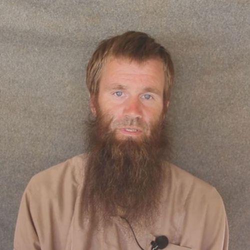 Johan en una captura de un video de al Qaeda.